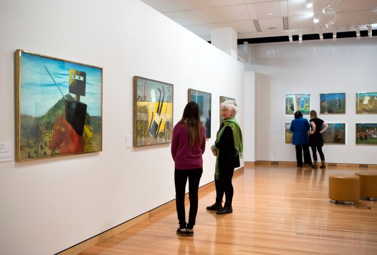 People viewing artworks at Canberra Museum and Gallery, Canberra, Australian Capital Territory © Penny Bradfield, VisitCanberra
