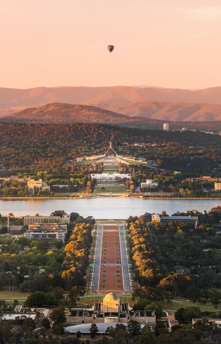 View from Mt Ainslie, Canberra, ACT © Rob Mulally for VisitCanberra