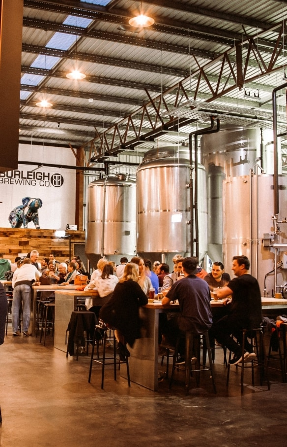Burleigh Brewing Company in Burleigh Heads, Gold Coast, QLD © Burleigh Brewing Company