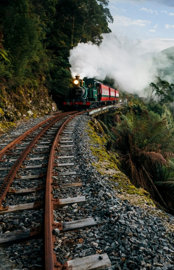 The West Coast Wilderness Railway, Strahan, TAS © Nick Osborne