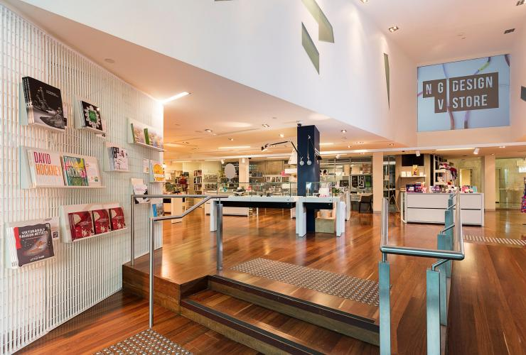 Interior of the National Gallery of Victoria's design store in Melbourne © Image supplied by NGV