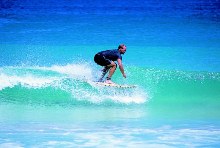 Surfing at Cottesloe Beach, Perth, WA © Tourism Western Australia