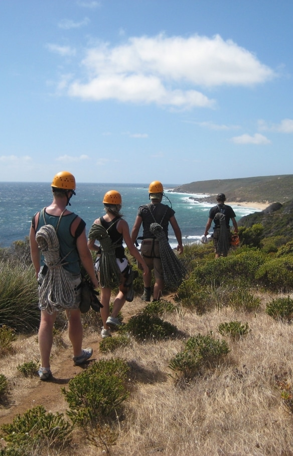 Abseiling, Margaret River, WA © Margaret River Climbing Co