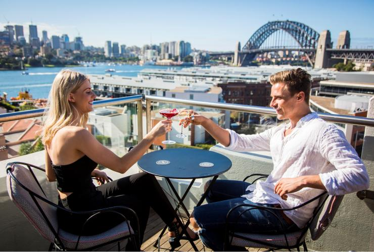 Couple at Henry Deane rooftop in Sydney © Destination NSW