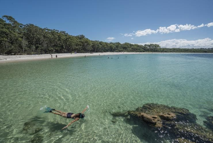 Snorkelling, Jervis Bay, NSW © Destination NSW