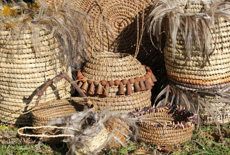 Weaved baskets by Galamban Extraordinary Aboriginal Experiences in Booderee National Park © Galamban Extraordinary Aboriginal Experiences