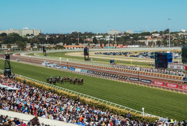 Melbourne Cup Carnival at Flemington Race Course, Melbourne, VIC © Tourism Australia, Time Out Australia