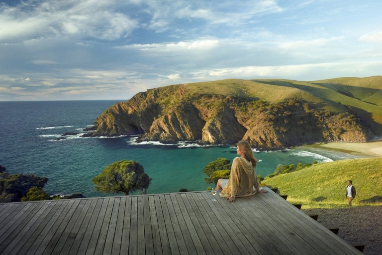 Couple camping in Mount Crawford Forest on the Heysen Trail, SA © We Live We Explore