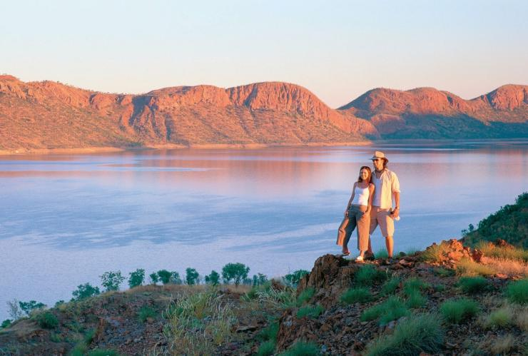 Couple standing by Lake Argyle © Tourism Western Australia