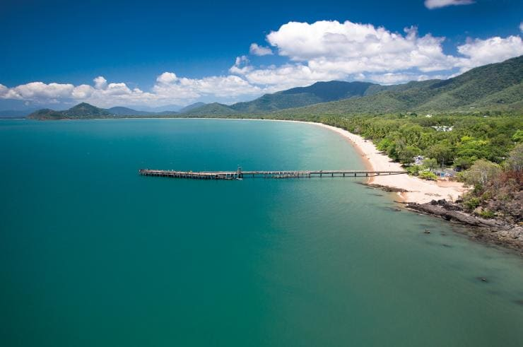 Aerial view of Palm Cove © Tourism and Events Queensland