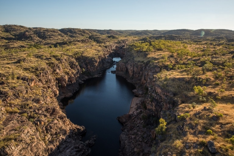Aerial view of Nitmiluk Gorge in the Northern Territory © Tourism Australia