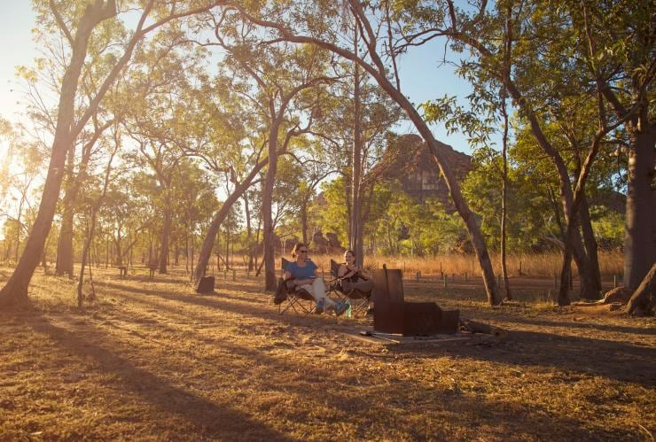 Camping in Keep River National Park © Tourism NT/Shaana McNaught