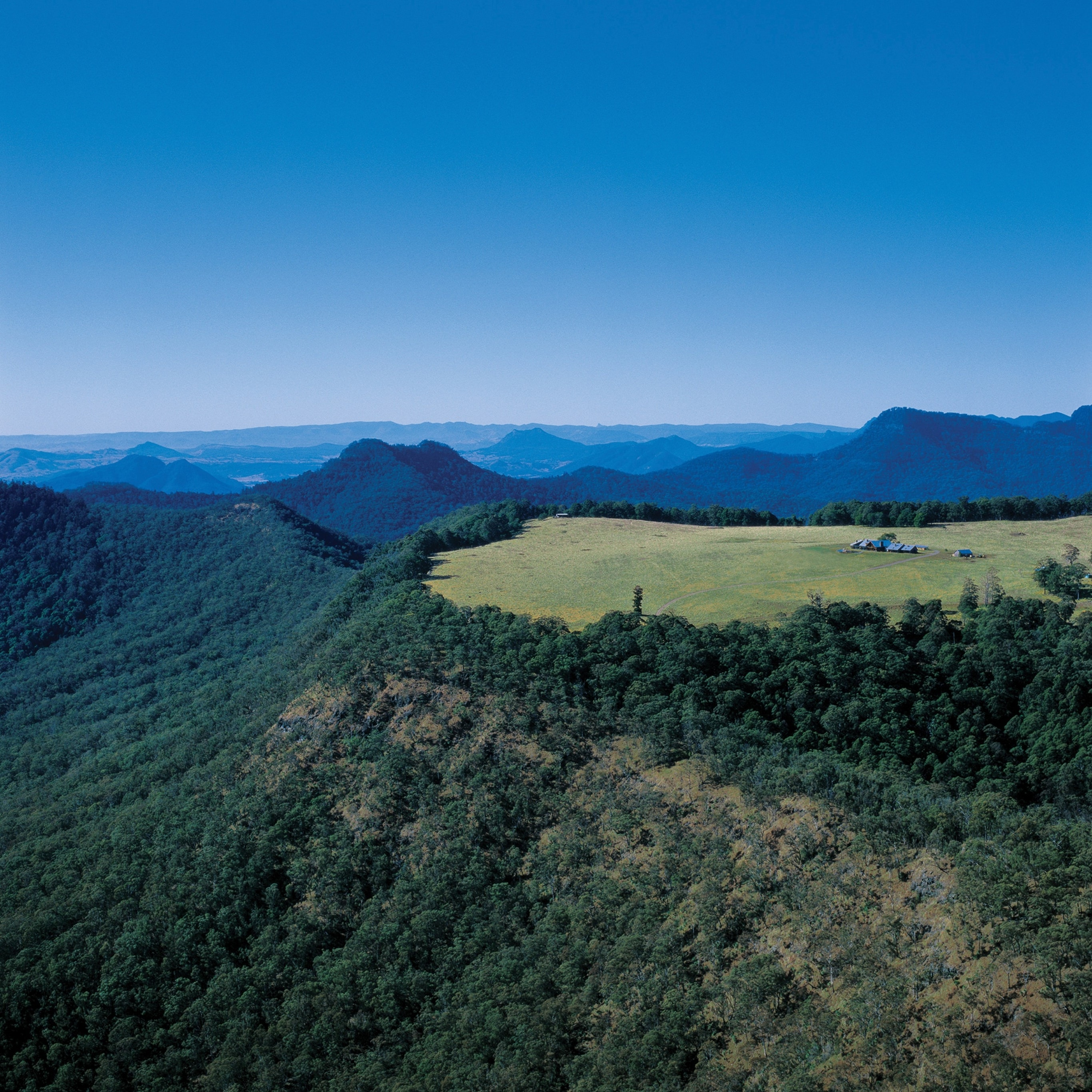 The Scenic Rim from above, Qld © Spicers Group