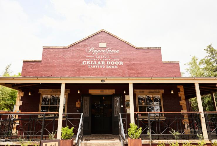 Exterior of PepperGreen Estate Cellar Door and Tasting Room in Berrima © Jesse Smith