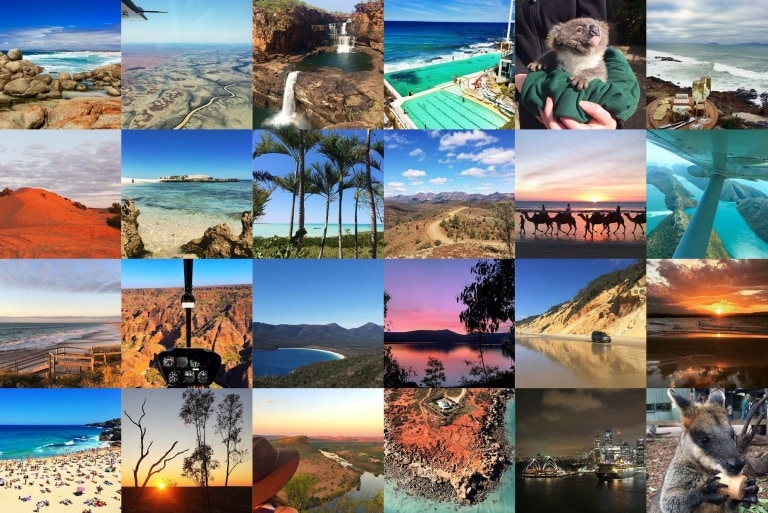 Collage of @Australia Instagram images © Tourism Australia