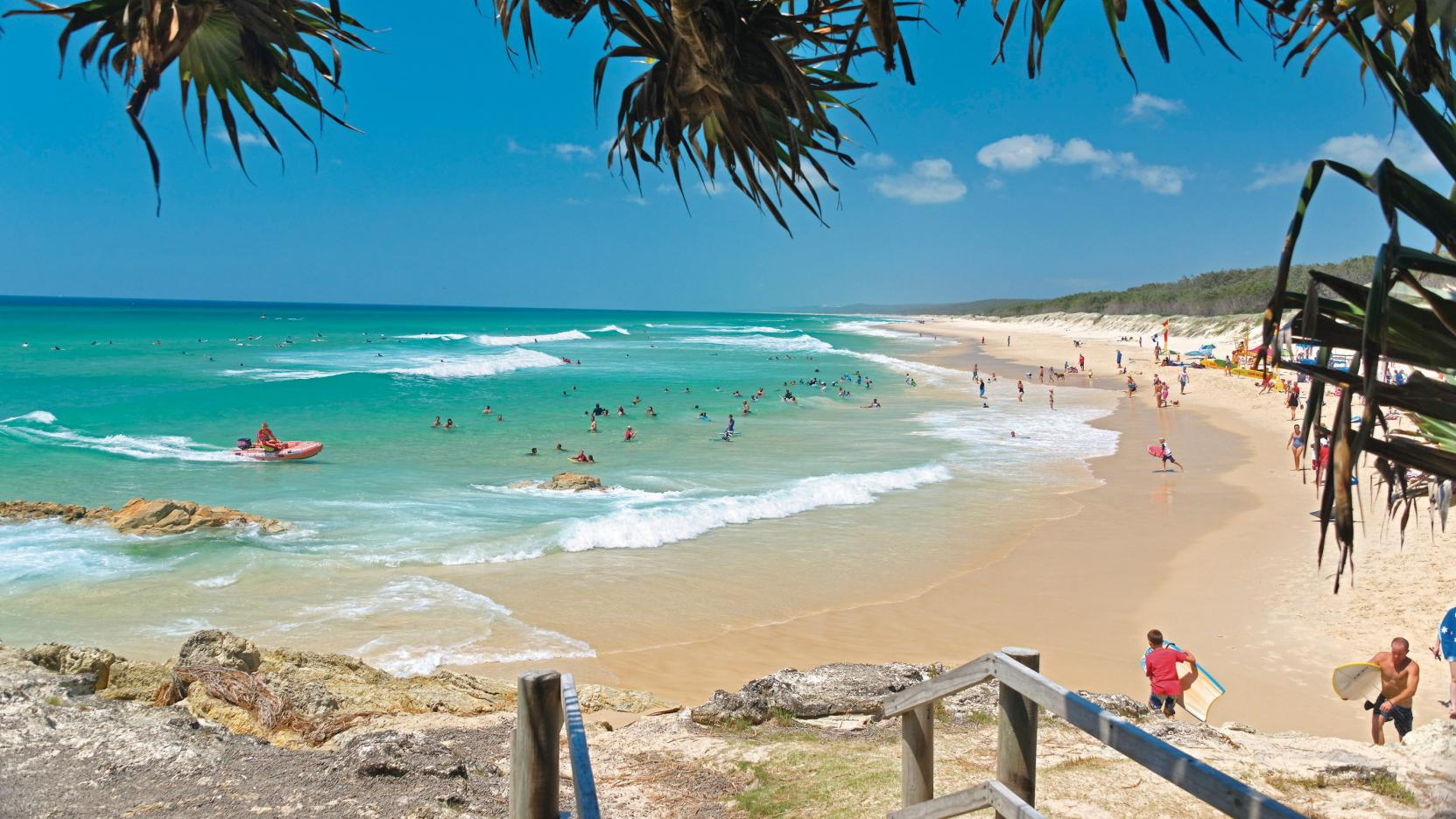 Frenchmans Lookout, North Stradbroke Island, QLD. © Jason Charles- Hill/Tourism and Events Queensland