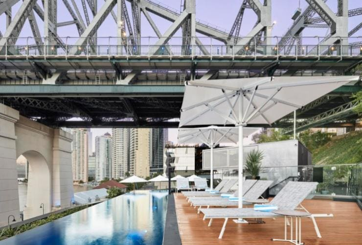 Pool area at the Fantauzzo, Brisbane, QLD © Furn-niche