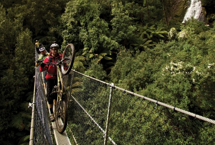 Montezuma Falls, Pieman River, TAS © Flow Mountain Bike
