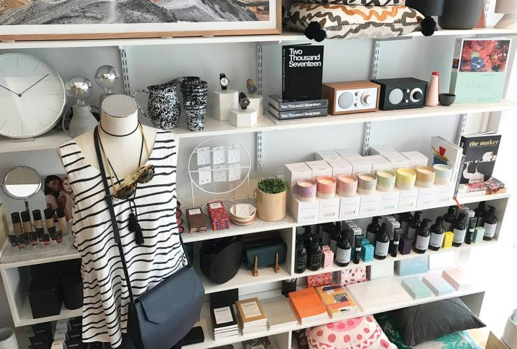 Fashion and homewares on display at Homeroom Design shop in Hobart © Homeroom Design