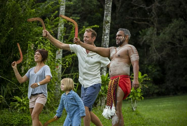 Rainforestation, Pamagirri Aboriginal Experience, Boomerang, Kuranda, QLD © Rainforestation
