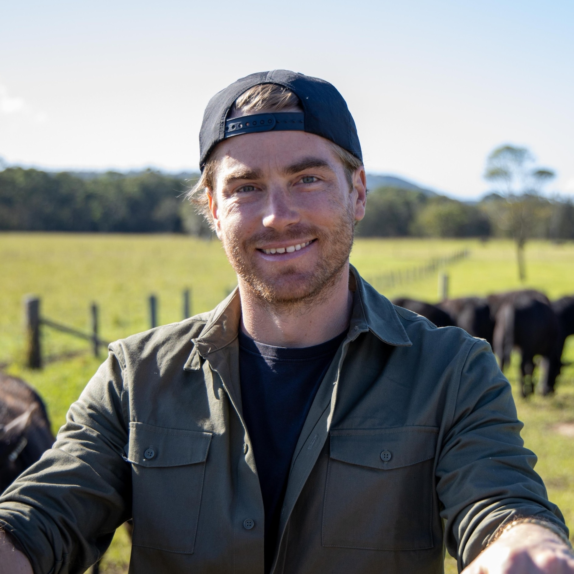 Hayden Quinn on a farm in New England, New South Wales © Boomtown Pictures