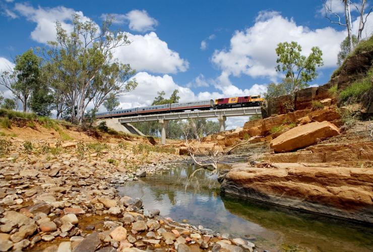 Spirit of the Outback on the Queensland Rail in outback Queensland © Queensland Rail