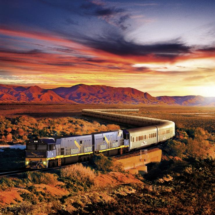 The Indian Pacific train © Great Southern Rail
