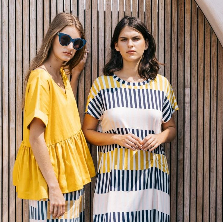 Two models wearing the designer label Elk in Melbourne © ELK