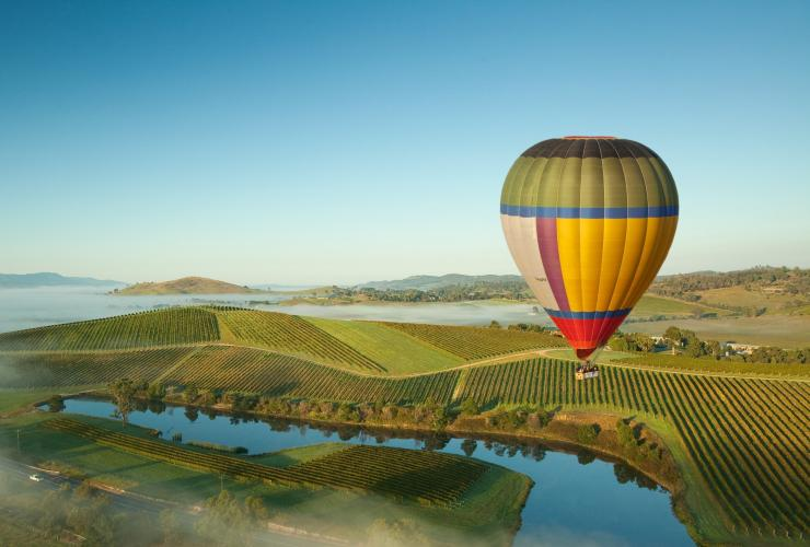 Hot air balloon over the Yarra Valley, VIC © Robert Blackburn