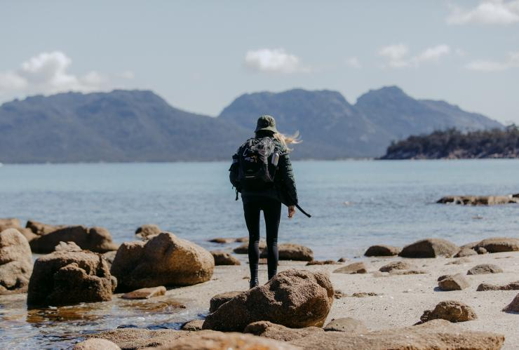 Freycinet Experience Walk, Wineglass Bay from Mt Graham, Freycinet National Park, TAS © Freycinet Experience, Great Walks of Australia