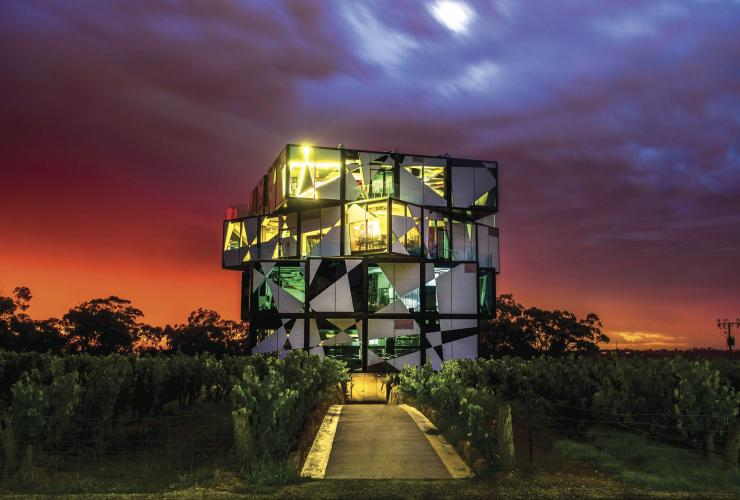 d'Arenberg Cube, McLaren Vale, SA © South Australian Tourism Commission