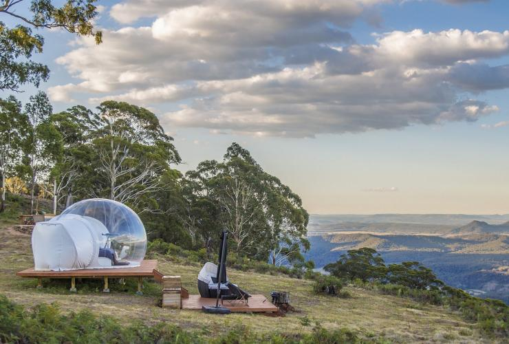 Bubbletent, Capertree Valley, NSW © Australian Traveller