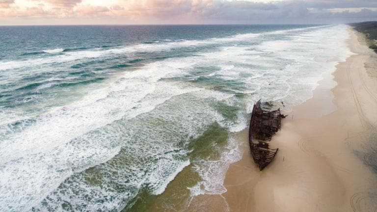 SS Maheno, Fraser Island, QLD © Tourism and Events Queensland