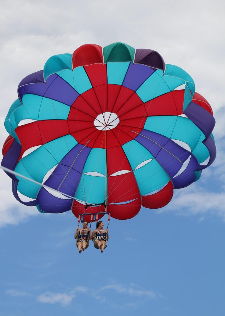 Parasailing on the Gold Coast with Gold Coast Watersports © Destination Gold Coast