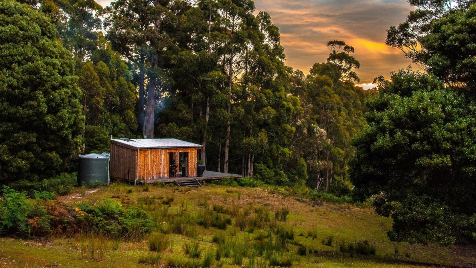 Bruny Island Long Weekend's glamping experience, Bruny Island, TAS. © Tourism Tasmania