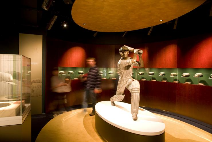 Don Bradman display at the National Sports Museum, MCG, Melbourne, VIC © Visit Victoria