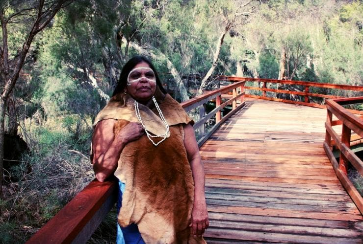 Kerry-Ann Winmar from Nyungar Tours in Kings Park and Botanic Gardens © Kerry-Ann Winmar