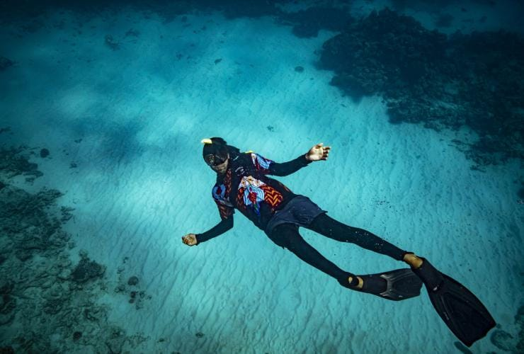 Dreamtime Dive and Snorkel, Cairns, QLD © Archie Sartracom, Tourism Australia
