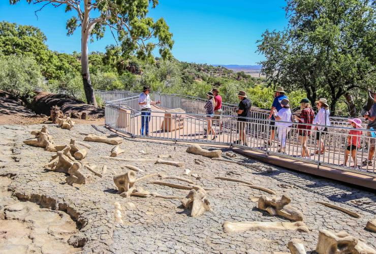 Group on a tour at the Australian Age of Dinosaurs Museum © Australian Age of Dinosaurs