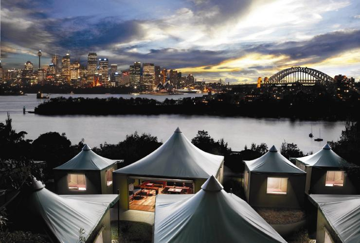 Roar and Snore glamping experience at Taronga Zoo Sydney © Taronga Zoo