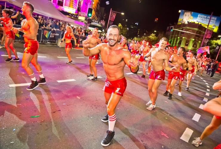 The Sydney Gay and Lesbian Mardi Gras parade in Darlinghurst © Photo by >HM 2014