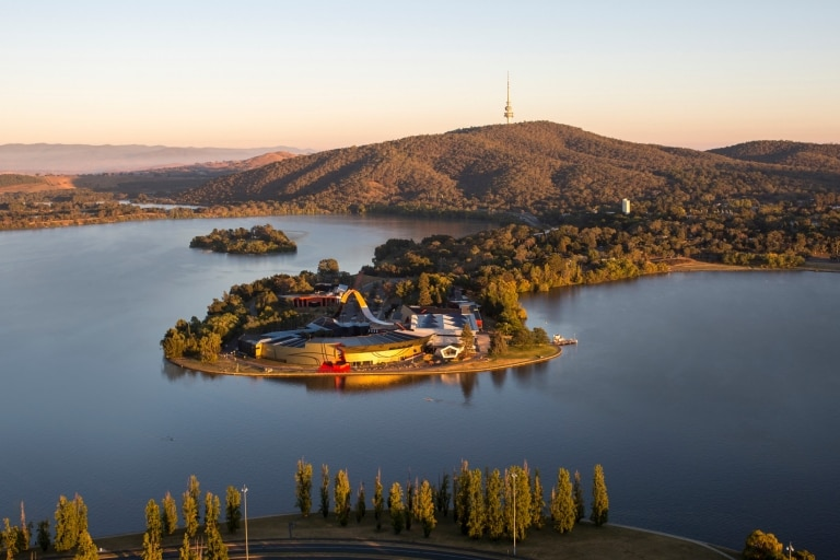 Aerial view of National Museum of Australia, Canberra, Australian Capital Territory © National Museum of Australia