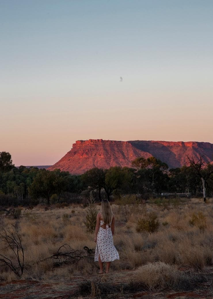 Views from Kings Canyon Resort in Watarrka National Park © Tourism Australia/Nicholas Kavo