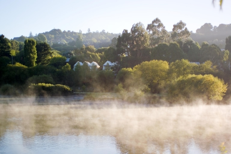 Mist over lake in the Daylesford countryside © Lake House