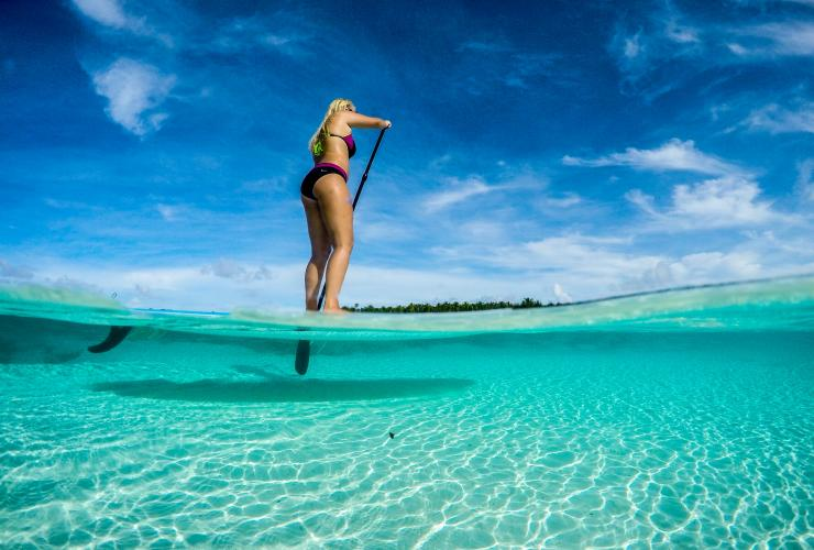 Stand-up paddle boarding, Cocos Keeling Islands © Cocos Keeling Islands Tourism Association