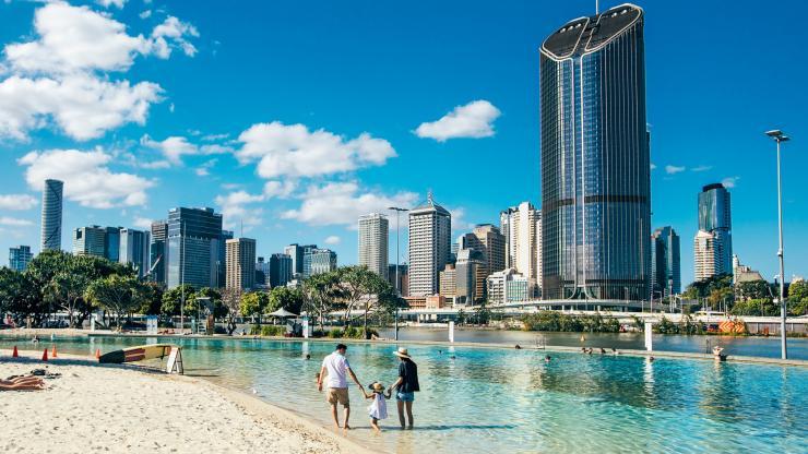 Streets Beach, Brisbane, QLD © Besuchen Sie Brisbane