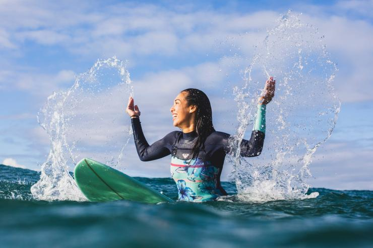Surfer, Burleigh Heads, QLD © Tourism and Events Queensland