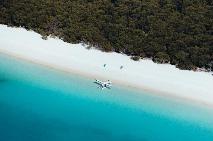 Whitehaven Beach, Îles Whitsunday, QLD © Jason Hill, Tourism & Events Queensland