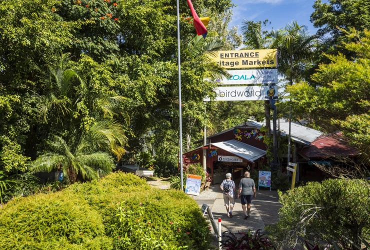 Heritage Markets entrance, Kuranda, QLD © Tourism and Events Queensland, Andrew Watson