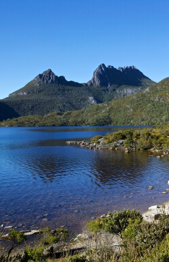 Hangar à bateaux, lac Dove et Cradle Mountain, parc national Cradle Mountain-Lake St Clare, TAS © Adrian Cook